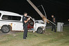 CRASH ON WEST RIDGE - 2 POLES DOWN - DRIVER FLEES :