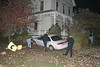 CAR GOES OFF EAST AVE - HITS HOUSE :