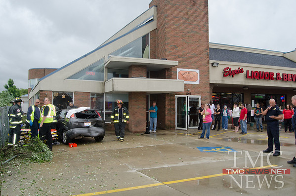 CAR STRIKES WOLFEY'S BISTRO AND PUB - photos by BRIAN WOODS