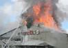 FIRE IN BIRMINGHAM - BUILDING DESTROYED :