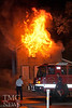 HOUSE SET ON FIRE FOR 4th TIME - photos by BRIAN WOODS :