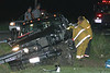 TRUCK GOES OFF 113 - CRASHES INTO POLE :